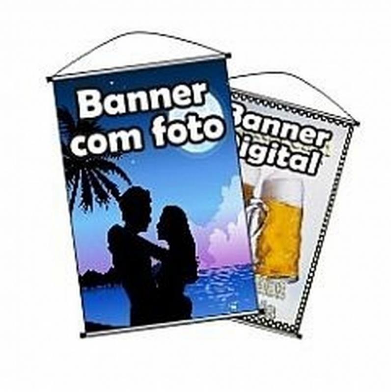 Banner Lona de Vinil Vila Olímpia - Banner de Lona com Ilhós