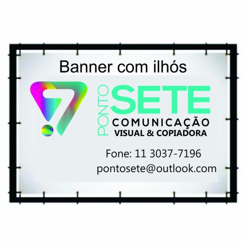 Onde Comprar Banner de Lona com Ilhós Vila Madalena - Banner Lona Fachada