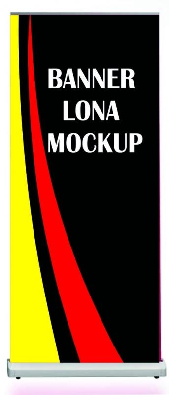 Onde Comprar Banner Lona Mockup Brooklin - Banner Lona com Suporte