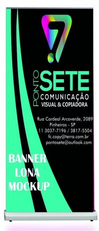 Qual o Preço do Banner Lona Mockup Jardim Paulista - Banner Lona com Suporte